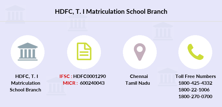 Hdfc-bank T-i-matriculation-school branch