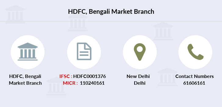 Hdfc-bank Bengali-market branch