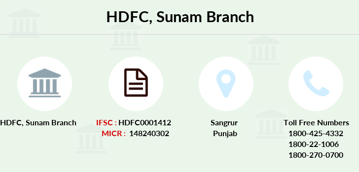 Hdfc-bank Sunam branch