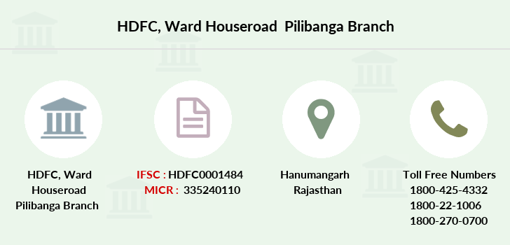 Hdfc-bank Ward-houseroad-pilibanga branch