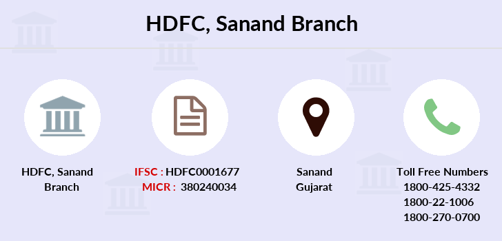 Hdfc-bank Sanand branch