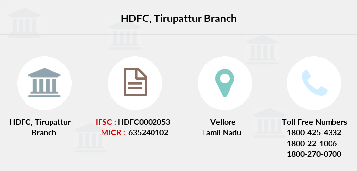 Hdfc-bank Tirupattur branch
