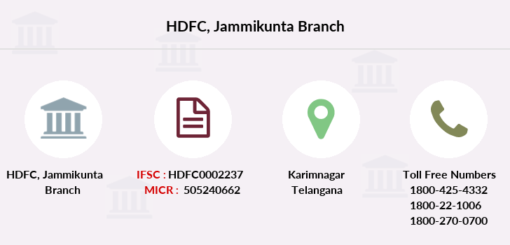 Hdfc-bank Jammikunta branch