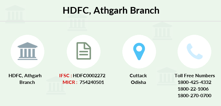 Hdfc-bank Athgarh branch
