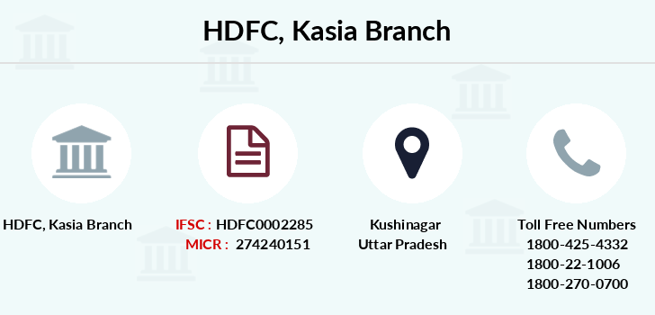 Hdfc-bank Kasia branch