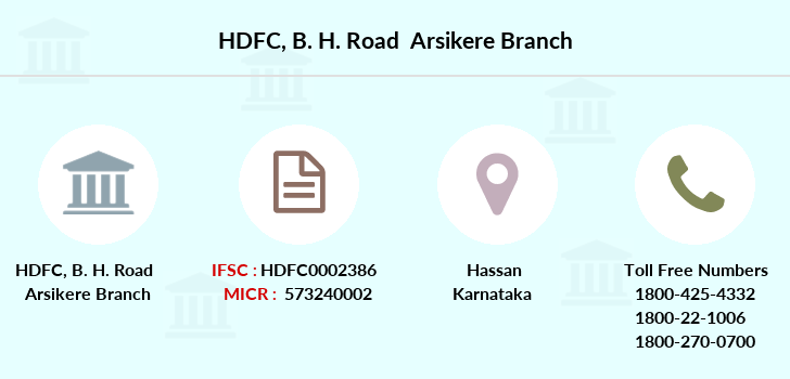 Hdfc-bank B-h-road-arsikere branch