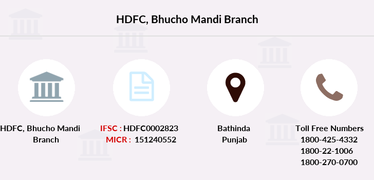 Hdfc-bank Bhucho-mandi branch