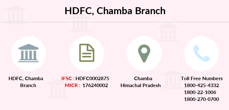 Hdfc-bank Chamba branch