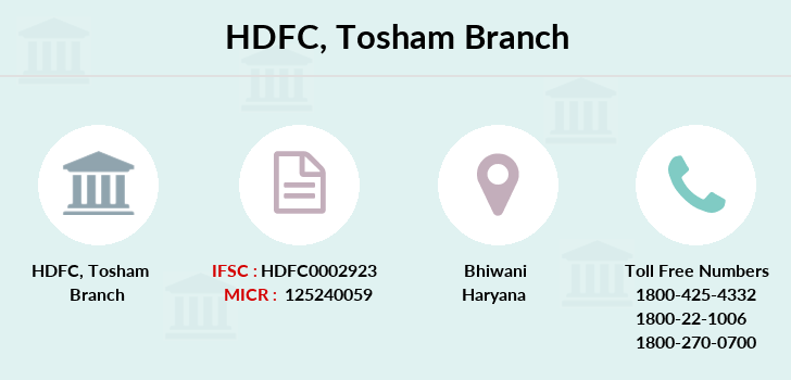 Hdfc-bank Tosham branch