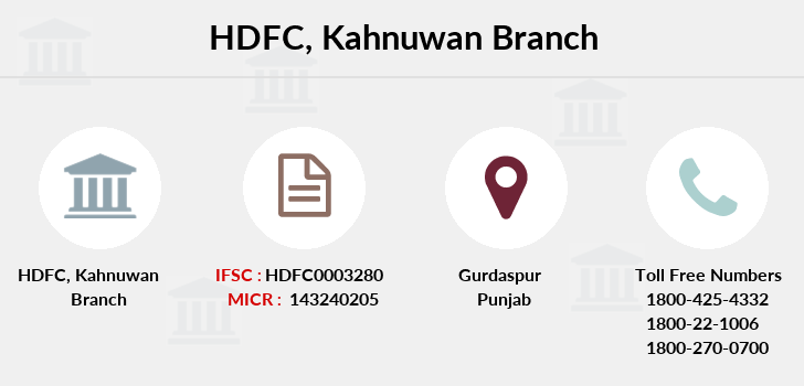 Hdfc-bank Kahnuwan branch