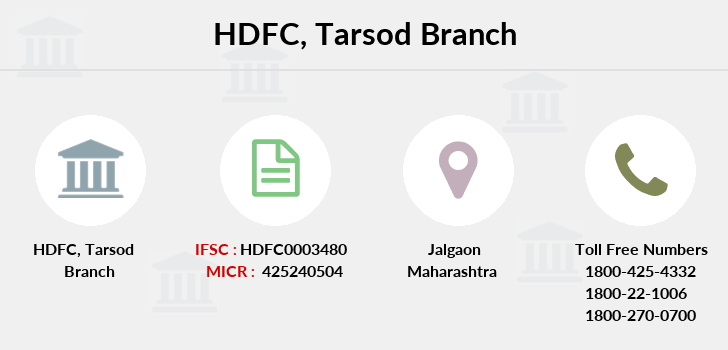 Hdfc-bank Tarsod branch