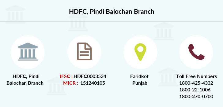 Hdfc-bank Pindi-balochan branch