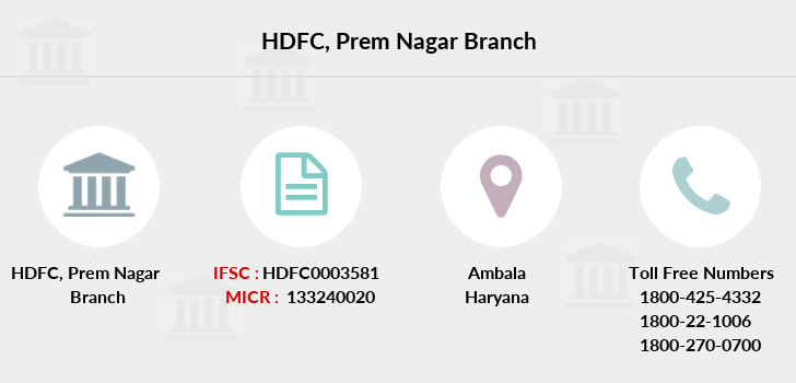 Hdfc-bank Prem-nagar branch