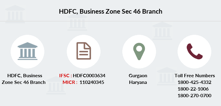 Hdfc-bank Business-zone-sec-46 branch