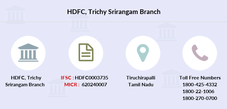 Hdfc-bank Trichy-srirangam branch