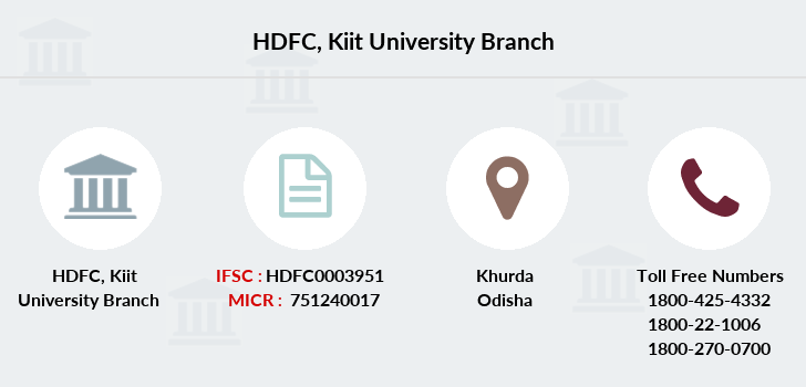 Hdfc-bank Kiit-university branch