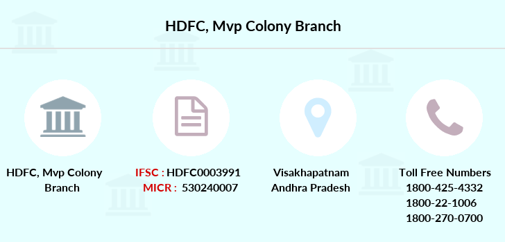 Hdfc-bank Mvp-colony branch