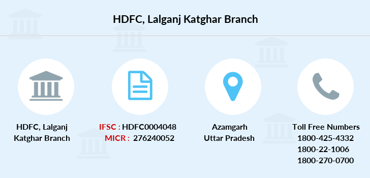Hdfc-bank Lalganj-katghar branch