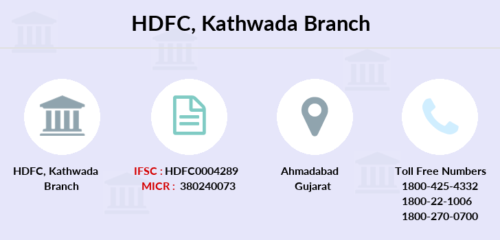 Hdfc-bank Kathwada branch