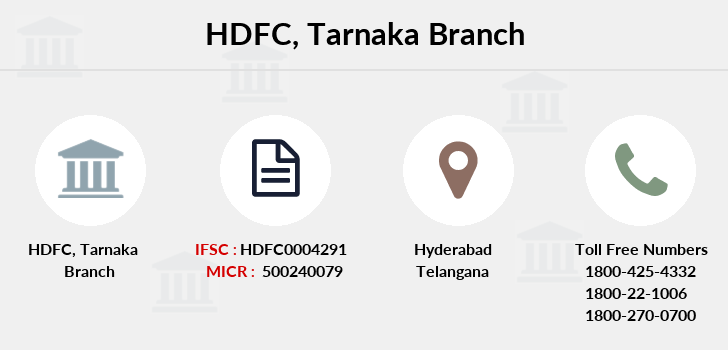 Hdfc-bank Tarnaka branch