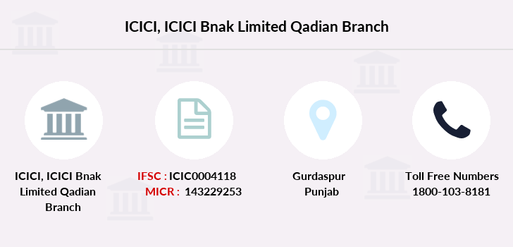 Icici-bank Icici-bnak-limited-qadian branch