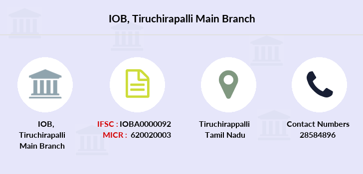 Indian-overseas-bank Tiruchirapalli-main branch