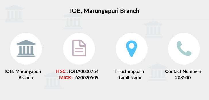 Indian-overseas-bank Marungapuri branch