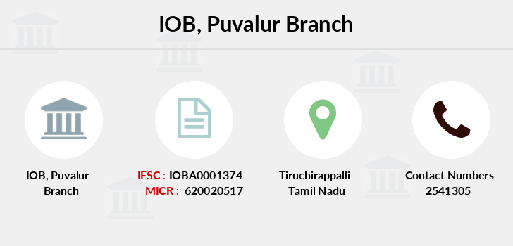 Indian-overseas-bank Puvalur branch