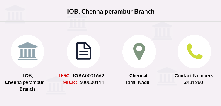 Indian-overseas-bank Chennaiperambur branch