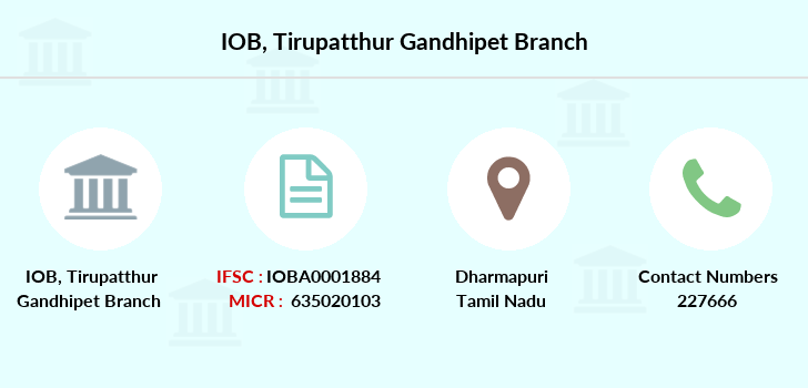 Indian-overseas-bank Tirupatthur-gandhipet branch