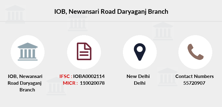 Indian-overseas-bank Newansari-road-daryaganj branch