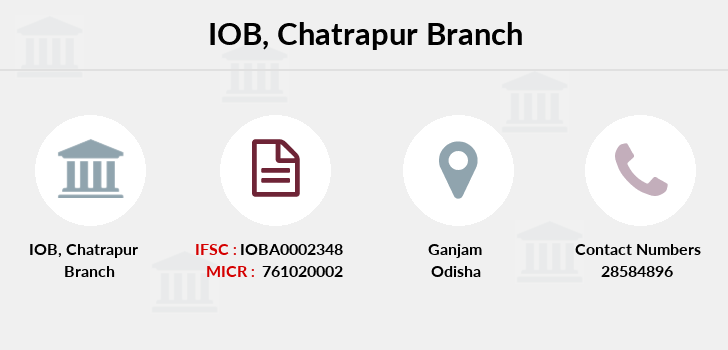 Indian-overseas-bank Chatrapur branch