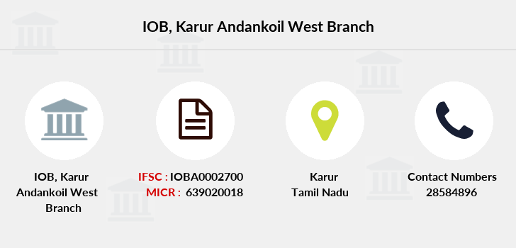 Indian-overseas-bank Karur-andankoil-west branch