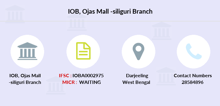 Indian-overseas-bank Ojas-mall-siliguri branch