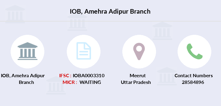 Indian-overseas-bank Amehra-adipur branch