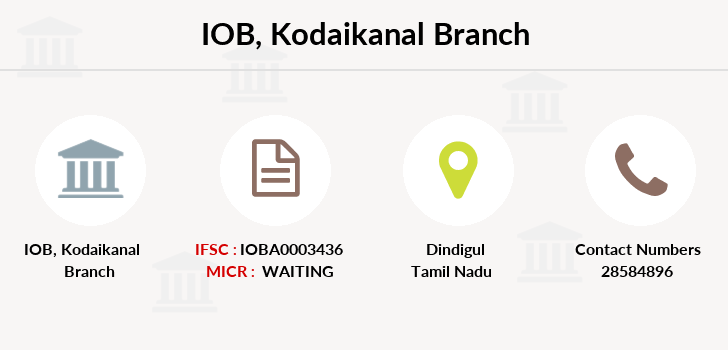 Indian-overseas-bank Kodaikanal branch