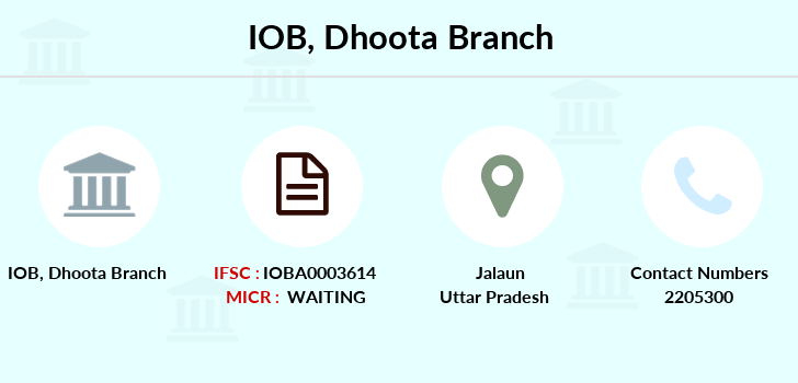 Indian-overseas-bank Dhoota branch