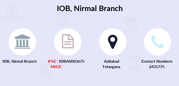 Indian-overseas-bank Nirmal branch