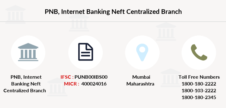 Punjab-national-bank Internet-banking-neft-centralized branch