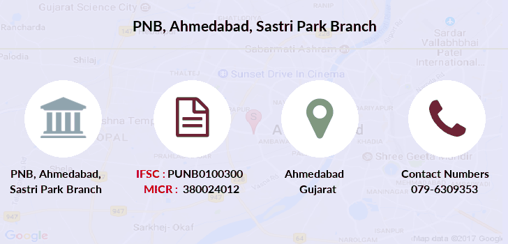 Punjab-national-bank Ahmedabad-sastri-park branch