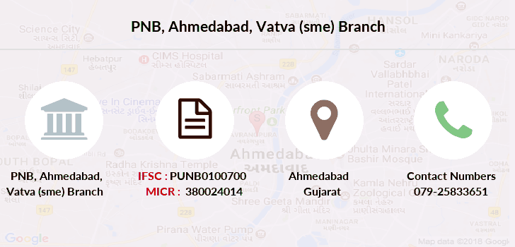 Punjab-national-bank Ahmedabad-vatva-sme branch