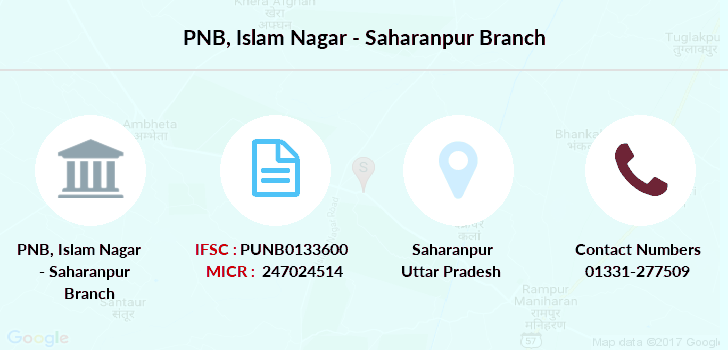 Punjab-national-bank Islam-nagar-saharanpur branch