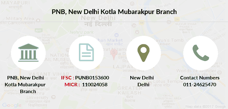 Punjab-national-bank New-delhi-kotla-mubarakpur branch