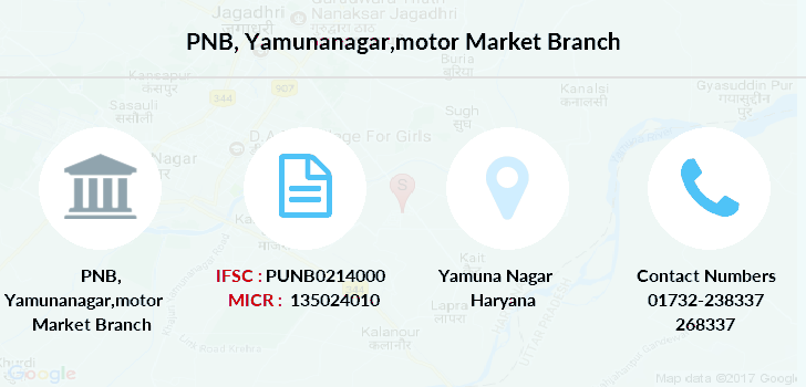 Punjab-national-bank Yamunanagar-motor-market branch