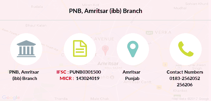 Punjab-national-bank Amritsar-ibb branch