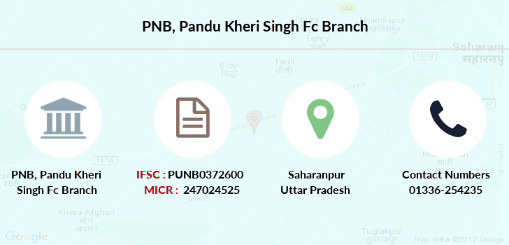 Punjab-national-bank Pandu-kheri-singh-fc branch