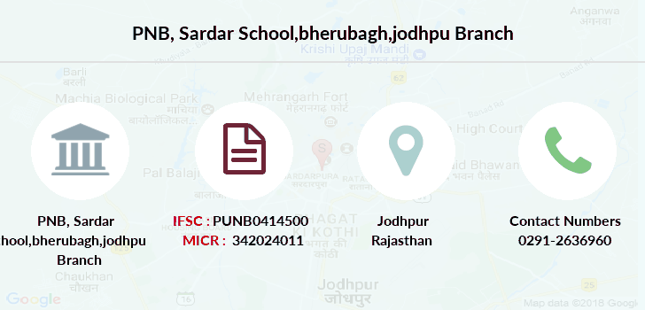 Punjab-national-bank Sardar-school-bherubagh-jodhpu branch