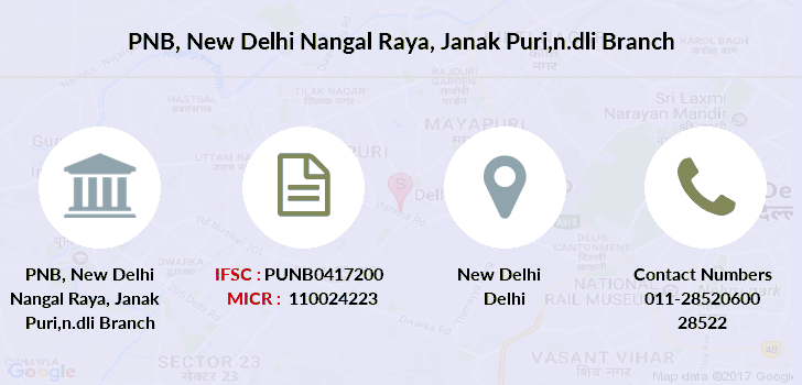 Punjab-national-bank New-delhi-nangal-raya-janak-puri-n-dli branch
