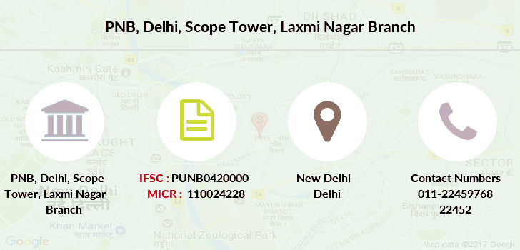 Punjab-national-bank Delhi-scope-tower-laxmi-nagar branch