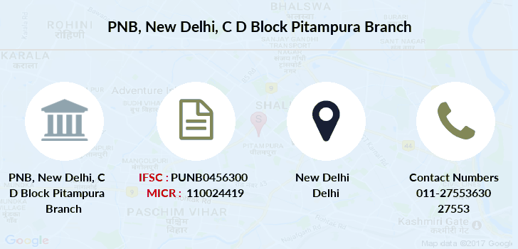 Punjab-national-bank New-delhi-c-d-block-pitampura branch